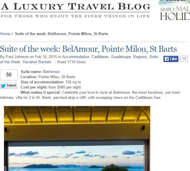 A Luxury Travel Blog featuring Villa BelAmour
