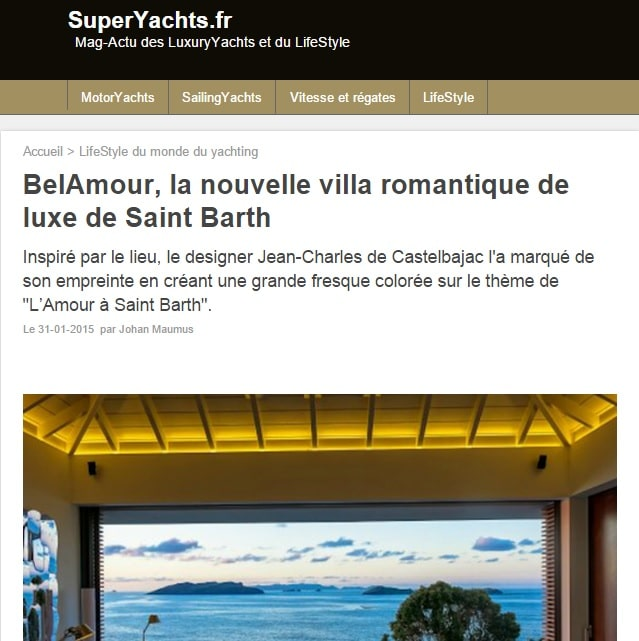 BelAmour in Super Yacht