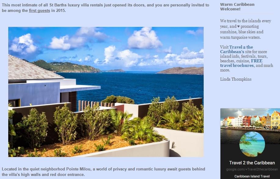 Villa BelAmour in Travel 2 the Caribbean