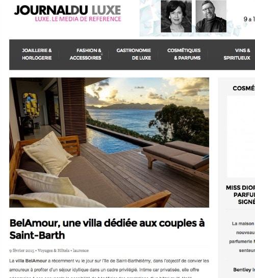 journal du luxe saint barth belamour