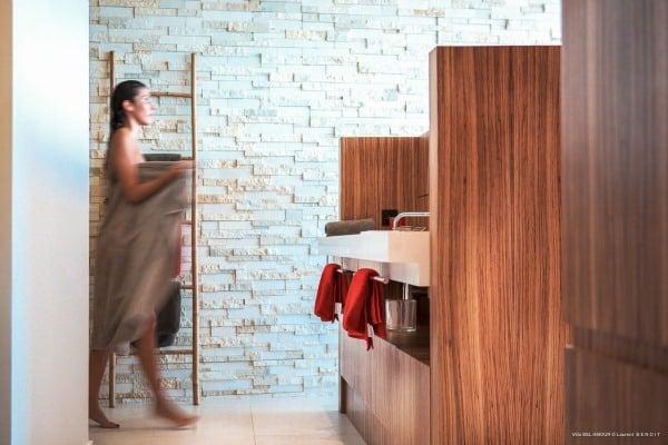 designer villa in st barts with shower BelAmour