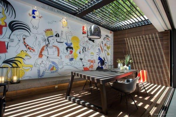st barts luxury villa rentals dining room