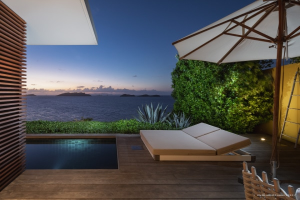 st barths 1-bedroom villa with pool and view