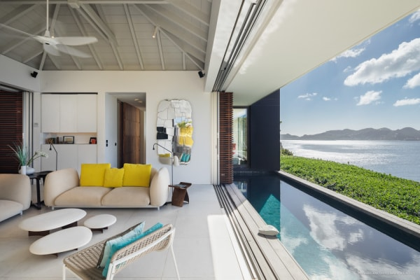 villa with private pool st barths pointe milou