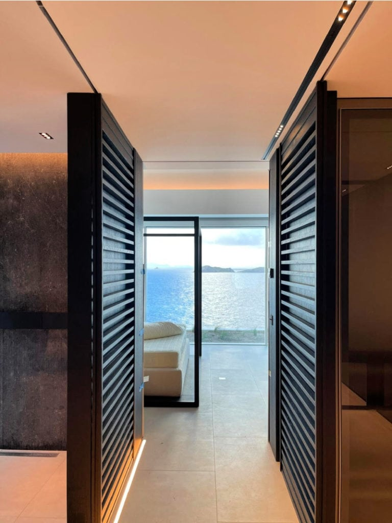 villa domingue st barths master bedroom view from hall 1